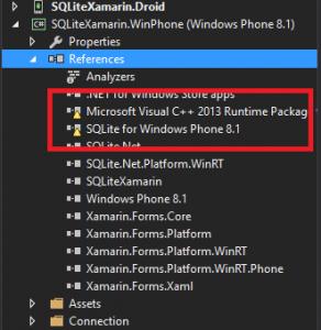 WinPhone SQLite