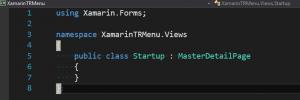 Xamarin Startup Page