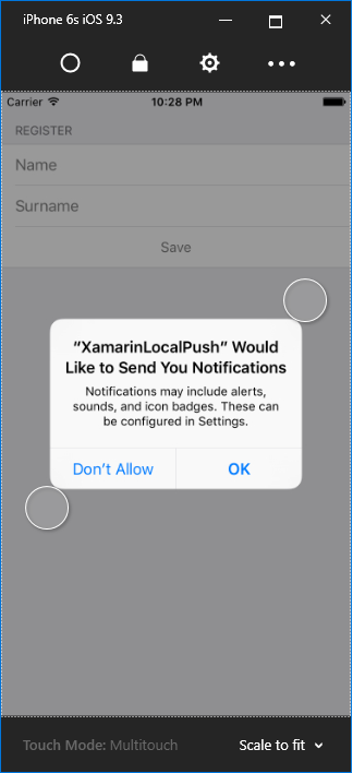 iOS Push Access