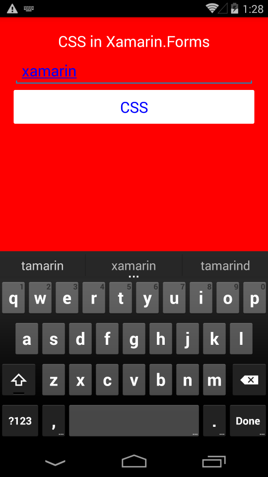 CSS in Xamarin Forms |