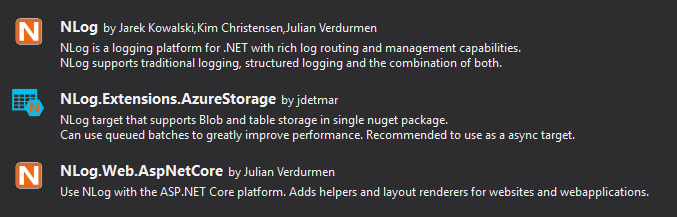 Custom Logging on Azure Blob Storage with Nlog |